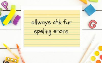 Ways to practise spelling words for homework
